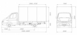 ГАЗ-3302 Газель промтоварные (мебельные)