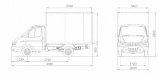 ГАЗ-2310 Соболь промтоварные (мебельные)