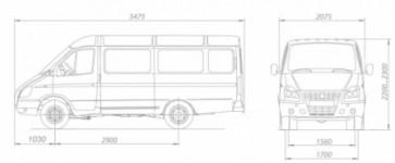ГАЗ-3221 Газель коммерческий (кат. «В») 9 мест, АБС